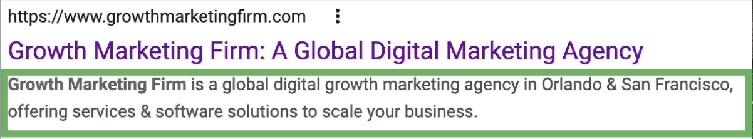 Growth Meta Description
